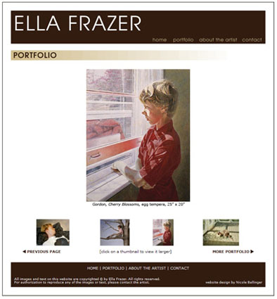 Ella Frazer website