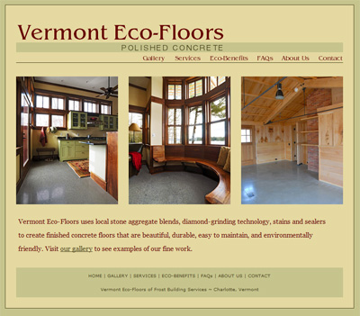 Vermont Eco-Floors Website